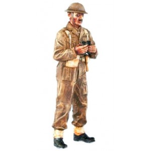 SKP 012 A British officer II. World War II with binoculars